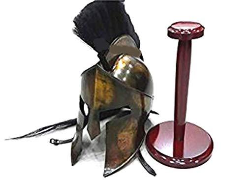 300 Armor King Leonidas Spartan Helmet Replica with Stand Free Halloween Costume