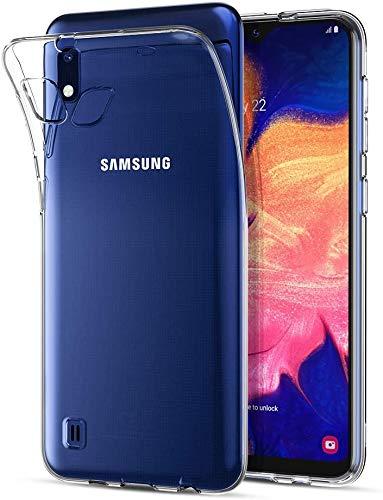 Captor Cover Trasparente per Samsung Galaxy A10, Custodia TPU in Silicone Flessibile Morbida e Sottile, Protezione Full Body con Bordo Rialzato per Schermo e Fotocamera