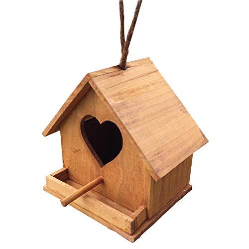 FLL Nichoirs Nid d'oiseau Pigeonnier Boîte d'élevage de Perroquet en Bois Nid d'oiseau Décoration Chaude extérieure Nid Suspendu Abri de Jardin Habitat de Nidification Pastorale Artisanat créati