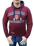 Sudadera con capucha oficial de la universidad de Cambridge - Borgoña - ropa oficial de la universidad famosa de Cambridge