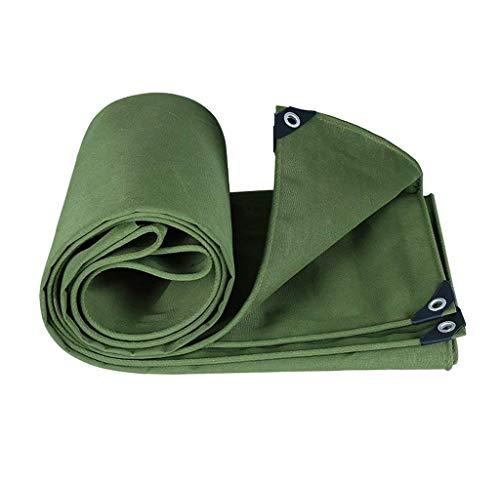 MSF dekzeil, 100% waterdicht en beschermd tegen UV-stralen, dikte 0,85 mm, 550 g/m2, dakbedekkingen van verzinkt aluminium, voor daktent, groen, groen