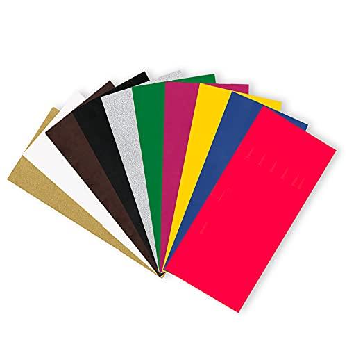 Smowo® 10 Grundfarben Wachsplatten 20 x 10cm zum gestalten, dekorieren und verzieren von Kerzen - Verzierwachs zum Basteln - Kerzenplatten Wachs Platten