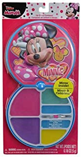 Disney Minnie Mouse Flavored Lip Gloss Compact for Makeup Pretend Play Dress up