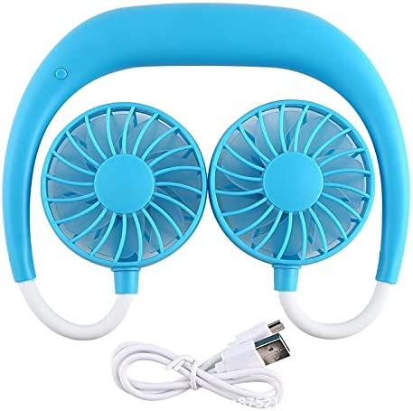 Jhtadva Outdoor and Indoor Hands-Free Neck-Mounted Dual-use Credence El Paso Mall Fan