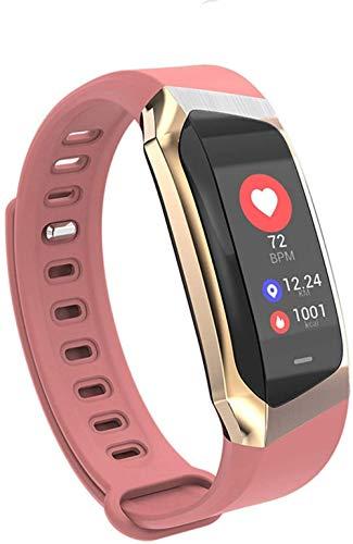 Reloj inteligente de 0,96 pulgadas, pantalla táctil grande, recordatorio de información de llamadas, Bluetooth, pulsera de salud clásica, color negro y dorado