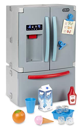 Little Tikes First Fridge Refrigerator with Ice Dispenser Pretend Play Appliance for Kids, Play Kitchen Set with Kitchen Playset Accessories Unique Toy Multi-Color