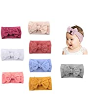 6 PCS Baby Girls Bowknot Headbands Elastic Soft Hairbands Headband Head Wraps Stretch Hair Band Hair Styling Accessories For Newborn Infant Toddler Baby Girls (Color Random)