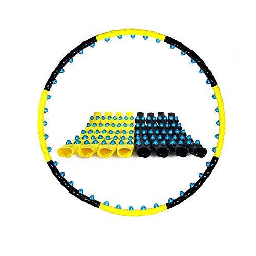Hula Hoop Zur Gewichtsreduktion Und Massage, 8 Abnehmbarer Hula Hoop Zur Fitness- / Sport- / Heim- / Büro- / Bauchformung Und Fettverbrennung (Color : Yellow and Black(8knots))
