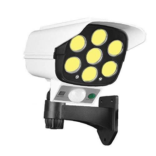 Yililay Dummy CCTV-Kamera-Sicherheits-Fälschungs-Kamera-Systeme Im Freien Solarbetriebene Lichtsimulation mit PIR Sensor-Bewegung blinkende LED 77 COB