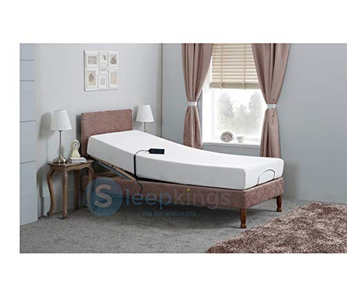 sleepkings Adjustable Electric Hospital Mobility Bed With Legs Free Headboard | Memory Foam Mattress (Mink, 4ft Small Double)