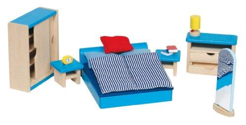 Goki 51906 - Mobili per casa delle bambole, Camera da letto, 16 pezzi