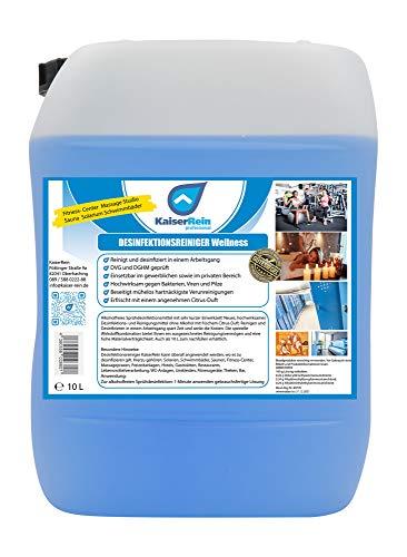 Desinfektionsreiniger Wellness/Spa 10 L Kanister zur Reinigung und Desinfektion besonders für Solarium Sauna-, Yogamatten-, Fitnessgeräte-, Massageliegenreiniger Nachfüllkanister begrenzt viruzid