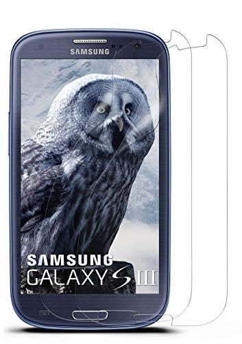 moex Kristallklare HD Schutzfolie kompatibel mit Samsung Galaxy S3 / S3 Neo | Bildschirmschutzfolie Kratzfest + Fast unsichtbar, Ultra Klar 2X Stück
