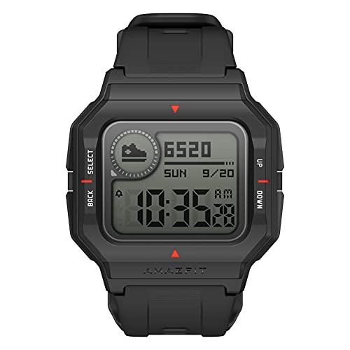 Amazfit Neo Smart Watch Reloj Inteligente 28 Días Batería 5 ATM Sensor Seguimiento Biológico Frecuencia Cardíaca iOS & Android - Negro