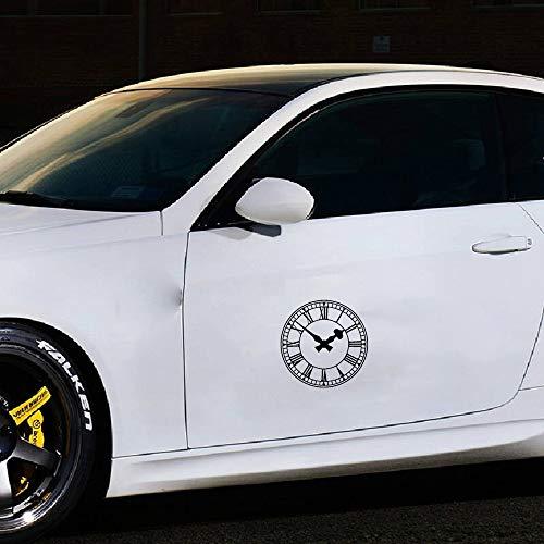Auto Aufkleber 16,5 cm x 16,5 cm Aufkleber Auto Aufkleber antike Uhr Uhr für Auto Laptop Fenster Aufkleber