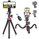 <span class='highlight'><span class='highlight'>Fantaseal</span></span> Phone Tripod, Smartphone Mobile Cell Phone Selfie Tripod Portable Flexible Mini Travel Tabletop Stand Mount Holder Compatible for iPhone Samsung Youtuber Reviewer Vlogging Live Streaming