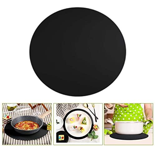 PPuujia Alfombrilla de silicona de 30,5 cm, antiadherente, para hornear, para microondas, resistente al calor, alfombrilla para horno de microondas (color: negro)
