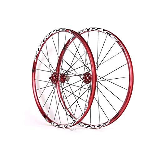 NS Ultraligero Bicicleta De Carretera Ruedas, 26 Pulgadas Double Wall V-Brake Ultra-Ligeras 24 Agujeros Pared MTB Rim para 8/9/10/11 Borde (Color : B, Size : 27.5inch)