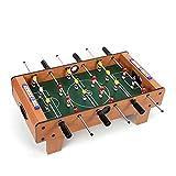 Futbolines Máquina 6 Postes Juguete para Niños Juego Liso Sin Rebabas (Color : Wood Color, Size : 50 * 25 * 15.5cm)