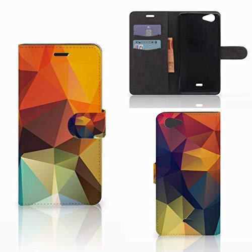 B2Ctelecom Handyhülle Personalisiert passt für Wiko Pulp Fab 4G Hülle Polygon Farbe