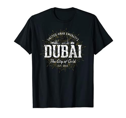 Dubai Vereinigte Arabische Emirate Vintage Style Retro Dubai T-Shirt