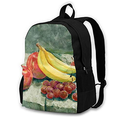 Adult Computer Backpack,Fruit Food Apple Banana Business Anti Theft Slim Durable Laptops Backpack College School Computer Bag Gifts for Men & Women Fits 16.5 Inch Notebook.