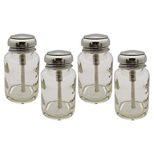 Generic 4 Pièces 80ml Bouteille UV Gel Polish Remover Cleaner Stockage pour Nail Art Alcool à Ongles Dissolvant Liquides