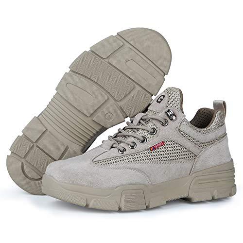 HGFMY Zapatos De Seguridad Ultraligero Transpirables, Zapatos De Seguridad Hombre, Calzado De...