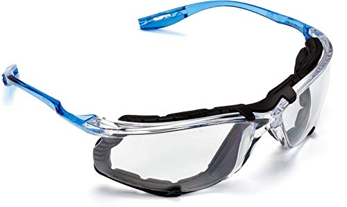 3M Personal Protective Equipment Safety Glasses, Virtua CCS Protective Eyewear 11872, Removable Foam Gasket, Clear Anti-Fog Lenses, Corded Ear Plug Control System