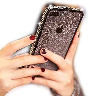 KI¢KI iPhone7plus/iPhone8plus ケース バンパー おしゃれ 可愛い キラキラ かわいい お洒落 きらきら iPhoneケース アイフォン 7 プラス アイフォン 8 プラス (iPhone7plus/iPhone8plus, ブラック)
