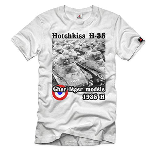 Camiseta Hotchkiss H-35 Panzer Char léger modèle 1935 H Francia # 32689