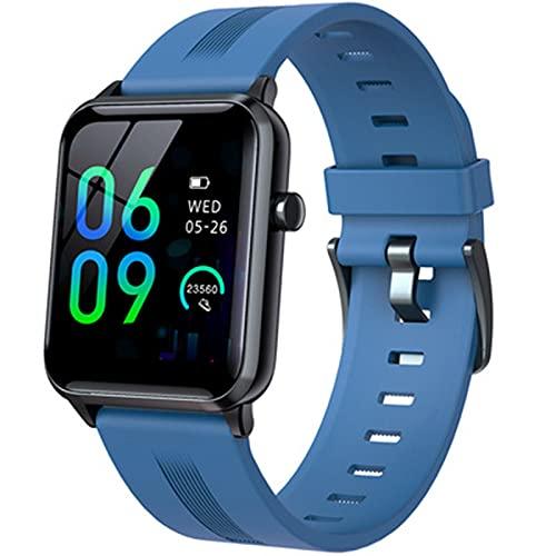 zyz El Nuevo Reloj Inteligente Ultrafino Y95, Impermeable IP68, Rastreador De Fitness De Presión Arterial, Llamada De Bluetooth De Varios Idiomas, Reloj De Pantalla Grande,Azul