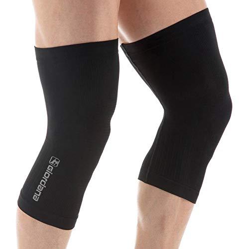 Giordana FR-C Seamless Cycling Knee Warmers - GICW18-KNEW-BCLW (Black - XL/2XL)