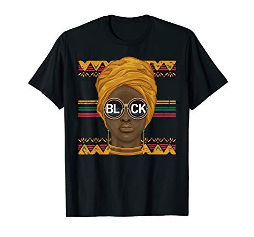 Dashiki Melanin Afro Woman - African Woman Gift T-Shirt