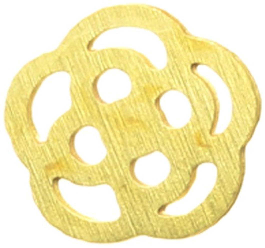 文明化する髄万一に備えてメタルプレート(ネイルストーン デコ) カメリア(30個入り) ゴールド(ネイル用品)