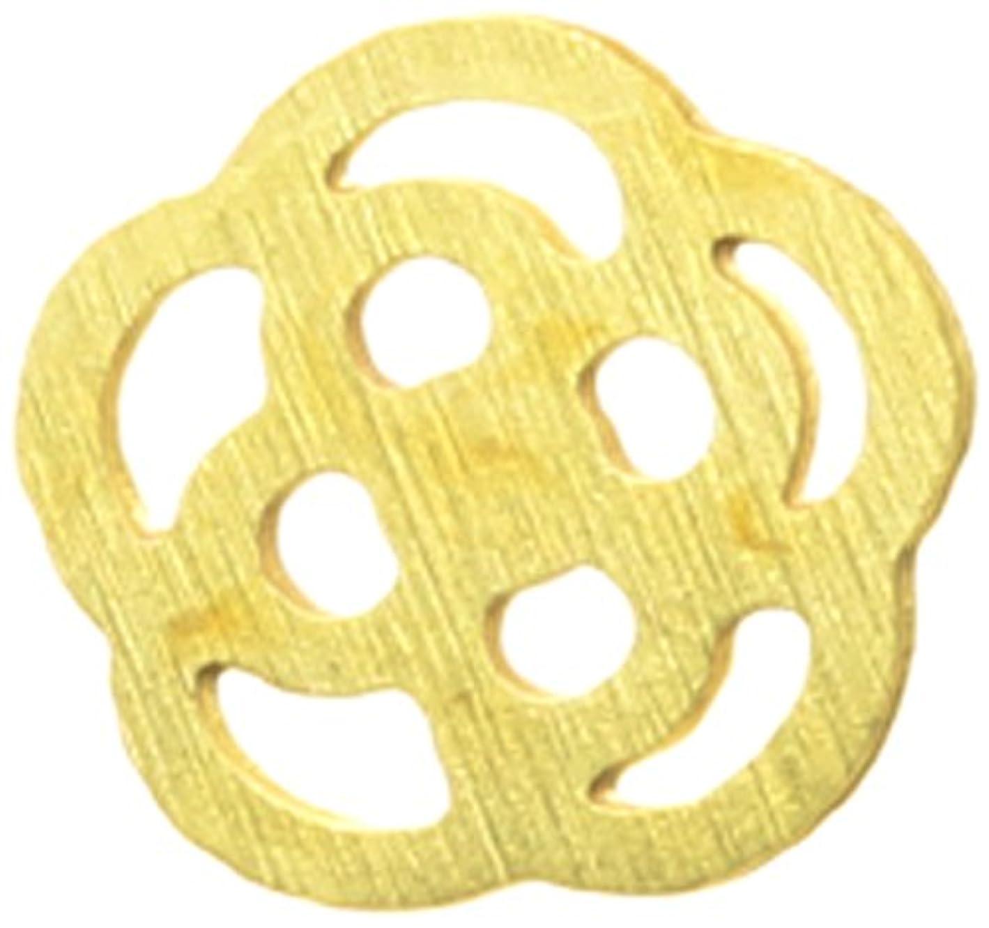 服簡単に艶メタルプレート(ネイルストーン デコ) カメリア(30個入り) ゴールド(ネイル用品)