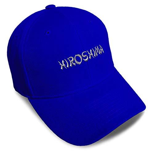 Speedy Pros Baseball Cap Hiroshima Japan Embroidery Acrylic Dad Hats for Men & Women Strap Closure Royal Blue Design Only