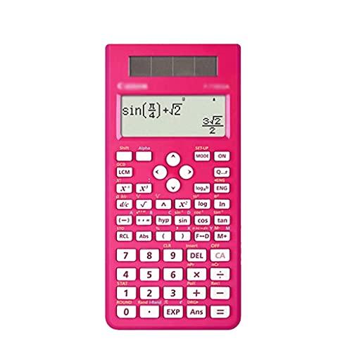 XWDQ Multifunción Calculadora,calculadora roja científica...