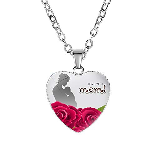 Gifts for Mom Mother Necklace Love Heart Love Mom Pendant Gifts for Women Mother Birthday Mother's Day Gifts