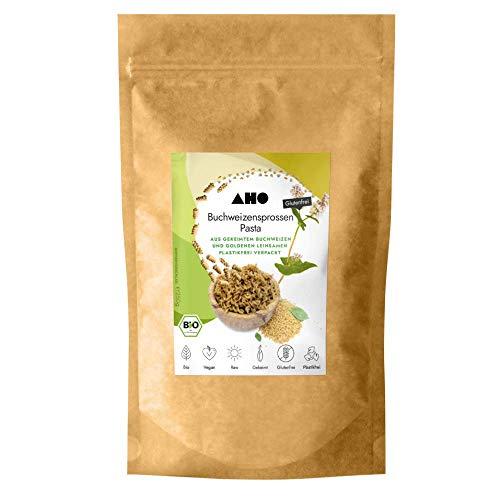 AHO Buchweizensprossen Pasta 250g | Glutenfreie Nudeln aus gekeimtem Buchweizen | Bio, Vegan, Plastikfrei (250g)