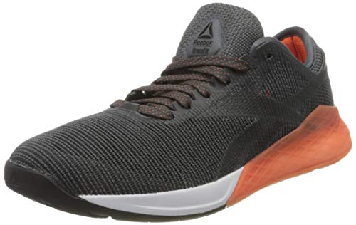 Reebok Herren Nano 9 Gymnastikschuhe, Schwarz (Black/Cold Grey 6/Fiery Orange Black/Cold Grey 6/Fiery Orange), 45 EU