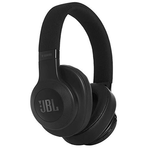 JBL E55BT Over Ear Bluetooth Kopfhörer in Schwarz – Wireless Headphones mit integriertem Headset – Musikgenuss für bis zu 20 Stunden