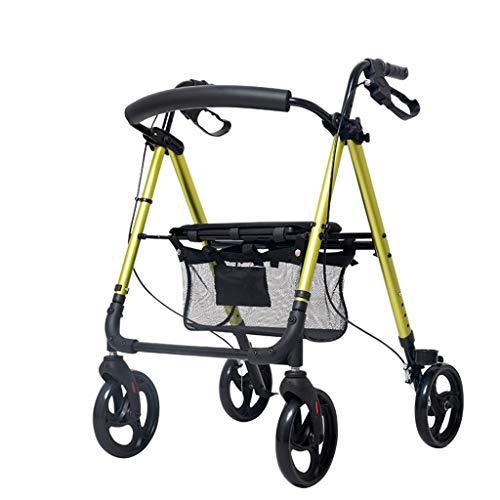 YUHT Rollwagen für ältere Menschen, mit Rädern, mit Gehhilfe, Rehabilitation, für ältere Menschen, Einkaufstrolley, 4 Farben, 7,5 kg Fahrt, 136 kg (Farbe: Grasgrün)