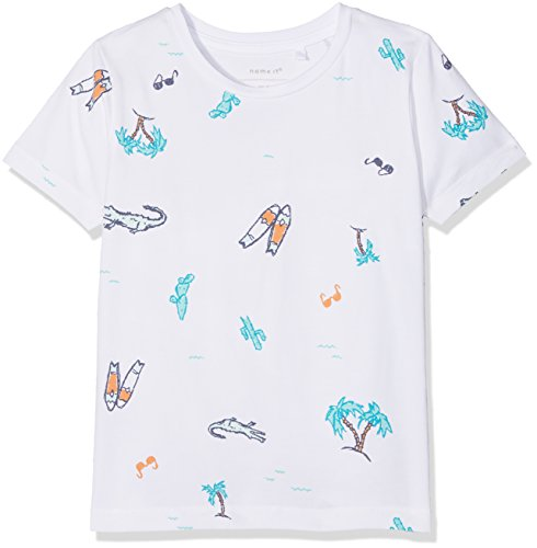 Name It Nmmdemo SS Top T-Shirt, Blanc (Bright White), 104 Bébé garçon