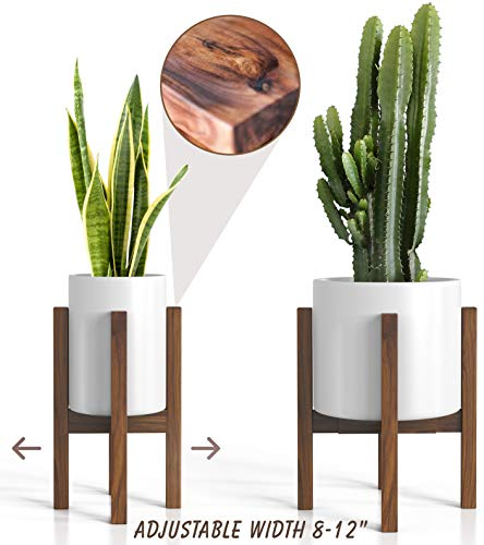 Mid Century Plant Stand - Adjustable Modern Indoor Plant...