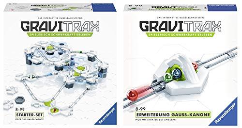 GraviTrax 27590 Starter Set Konstruktionsspielzeug, deutsche Version & 27594 Gauss Kanone Konstruktionsspielzeug