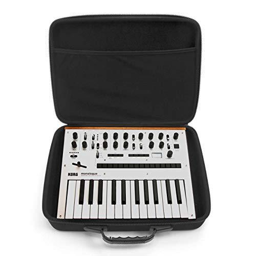 Analog Cases PULSE Case für Korg Monologue oder vergleichbare Synthesizer (Transporttasche aus langlebigem, geformtem EVA/Nylon, mit robustem Gummitragegriff), Schwarz
