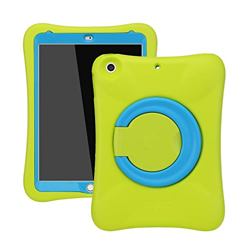 NLR Kids EVA Case for iPad | Multi-Direction Stable Stand | Compatible with 10.2-Inch iPad 2019 (7th generation) (Green+Blue)