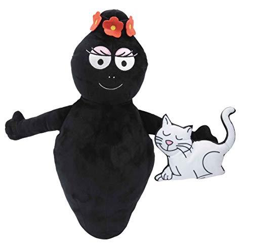 Barbapapa, Peluche Barbaparents 40 cm, Barbamama avec son chat, Toute douce, à Caliner, BAP132