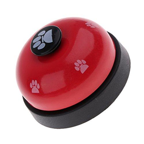 Baoblaze Hunde Tischglocke Hundeglocke Mahlzeit Töpfchen Training Ausbildung Glocke für Kleine, Mittlere und Große Hunde - Rot